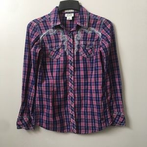 Ariat Plaid Snap Front Western Top